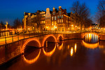 Along the Canals in Amsterdam at Night