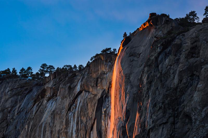 """Horsetail Falls at Sunset in Yosemite National Park"""