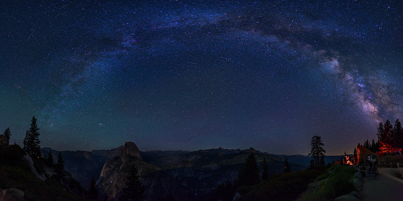 """Milky Way over Half Dome"""