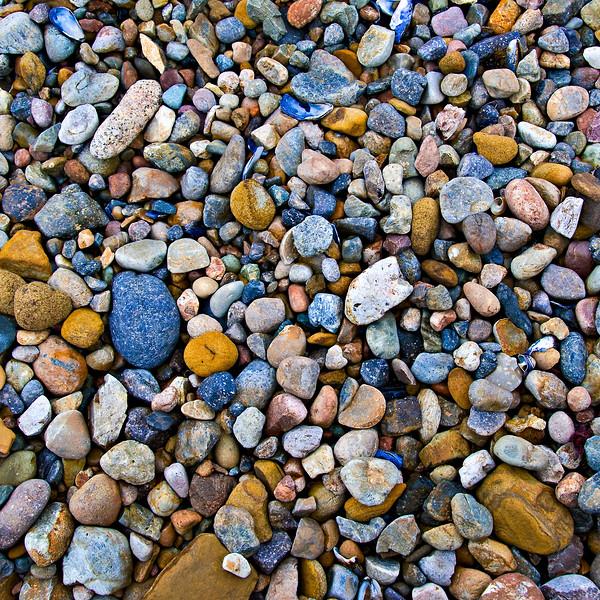 """Sea of Pebbles"" Rock Textures in Point Lobos, Northern California"