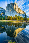 """Reflections of El Capitan on the Merced River in Fall"""