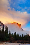 """Clearing Storm on El Capitan at Sunset"" Yosemite National Park"