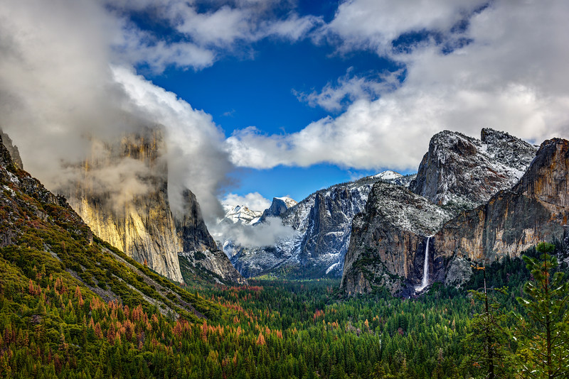 """""""Tunnel View in Yosemite National Park in Winter"""""""
