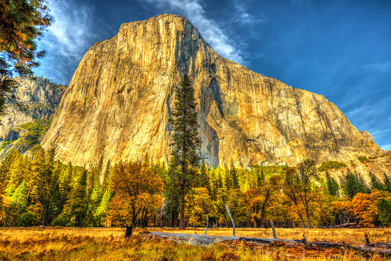 """""""Fall Day at El Capitan in Yosemite""""  Hanging out in El Cap meadow in Yosemite National Park on a Fall day is just a relaxing thing to do.  The fall colors all around, the blue skies with wisps of clouds - I could sit in my chair here for days!  How about you?!   Bring a spotting scope or super telephoto lens to see some climbers on the face of El Capitan. Captured with a Nikon D800, my favorite Nikon f/2.8 14-24mm lens at 21mm and f/5.6. 1/320 second on a big tripod.  #yosemite #yosemitenationalpark #elcapitan #fallcolors #nikond800 #california #healthcarefineart  <br /> <a href=""""https://500px.com/photo/88466359/%22fall-day-at-el-capitan-in-yosemite%22-by-john-harrison"""">https://500px.com/photo/88466359/%22fall-day-at-el-capitan-in-yosemite%22-by-john-harrison</a>"""