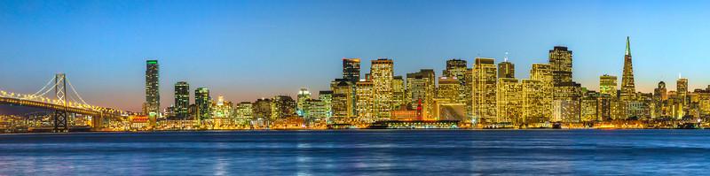 """San Francisco Skyline at Dusk"""