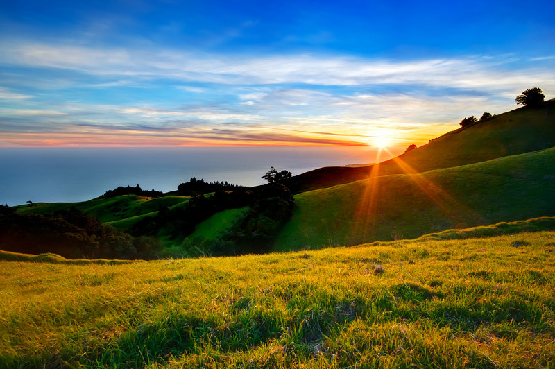 """""""Spring Sunset in the Marin Headlands""""  Mt Tam State Park, California"""