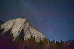 El Capitan with Stars at Night.   I was shooting out in El Capitan meadow on a beautiful clear night after a long weekend.  I wanted to try to capture as much as possible to remember the weekend.  There is a climber and lantern about half way up on the right hand side (2/3 across El Cap) near the tree line.  I can't imagine camping out up there!  It was cold enough just being in the valley.  I have another image with my super-telephoto where I captured just his lamp flashing around.