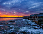 """Sunrise by the Monterey Bay Aquarium""  I spent the night at the Monterey Bay Aquarium with my daughter and woke up to an amazing sunrise!  It was fantastic to just walk outside the Monterey Bay Aquarium and see such an amazing glow in the sky.  The sunlight reflected on the other building along Cannery Row catching the sunlight coming up over the hills.  Just another amazing place here in the San Francisco Bay Area."