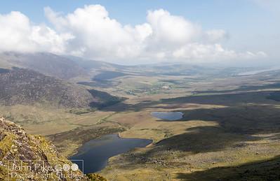 Plains far below Conor Pass