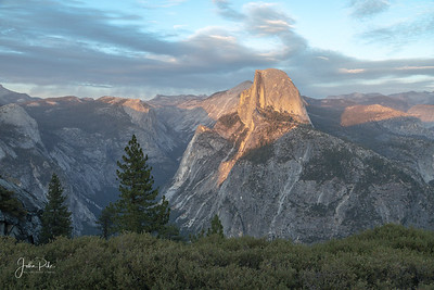Half Dome in Evening Light, Glacier Point