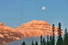 Pilot Mountain and Moon at Sunrise,<br /> Banff National Park, Alberta, Canada