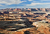 Monument Basin from Grand Viewpoint Overlook, Early Morning<br /> Island in the Sky District,<br /> Canyonlands National Park, Utah