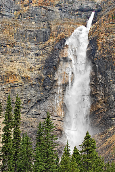 Takakkaw Falls,<br /> Daly Glacier Melt, 1248 feet,<br /> Yoho National Park, British Columbia