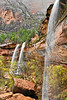 Waterfalls at Emerald Pools,<br /> Zion National Park, Utah
