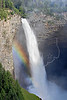 Rainbow at Helmcken Falls,<br /> Murtle River, 463 feet,<br /> Wells Gray Provincial Park,  British Columbia