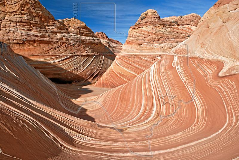THE Wave,<br /> North Coyote Buttes,<br /> Paria Canyon-Vermilion Cliffs Wilderness, Utah-Arizona
