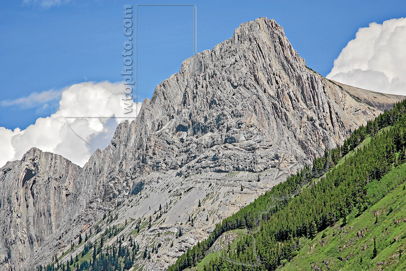 Rocky Mountain Scenery along Highway 40,<br /> Grizzly Peak,<br /> Kananaskis Country, Alberta, Canada