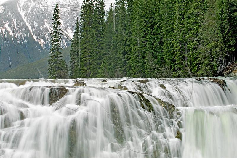 Wapta Falls,<br /> Kicking Horse River, 98 feet,<br /> Yoho National Park,<br /> British Columbia, Canada