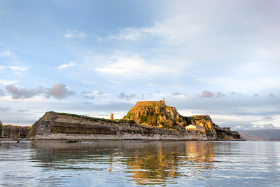 the old fort of Corfu in Greece