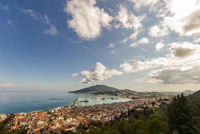 panoramic view of zante island