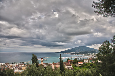 panoramic view of zante island