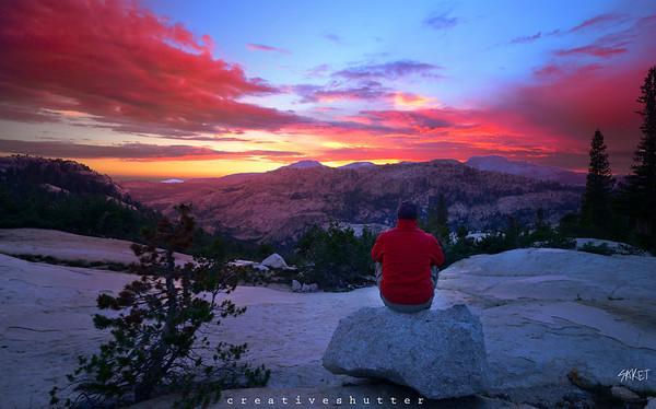 Yosemite Hiking Sunset