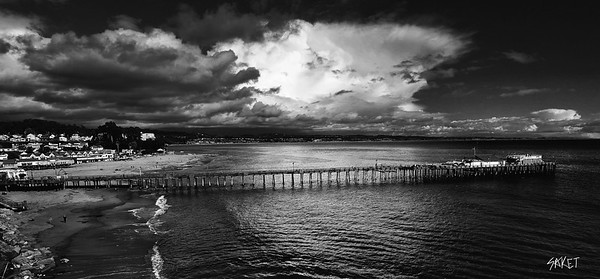 Storm over capitola pier