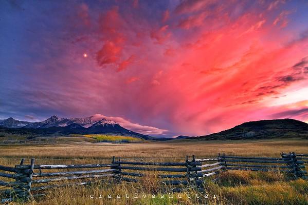 Epic Colorado Sunset