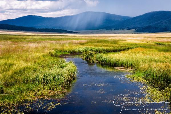 Monsoon Rains in Valles Caldera, New Mexico