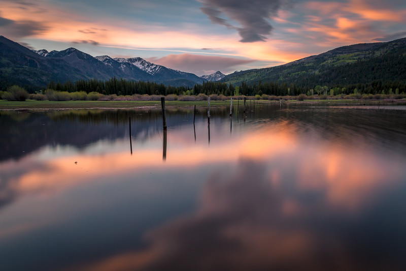 Long Exposure Sunset at Vallecito