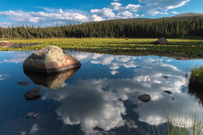 Rainbow Lake, Reflection