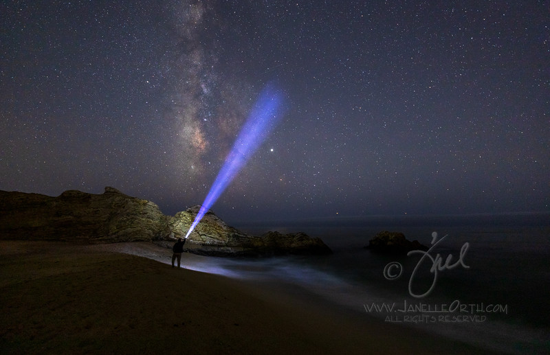 Cowell Ranch Beach Milky Way @2019 Janelle Orth