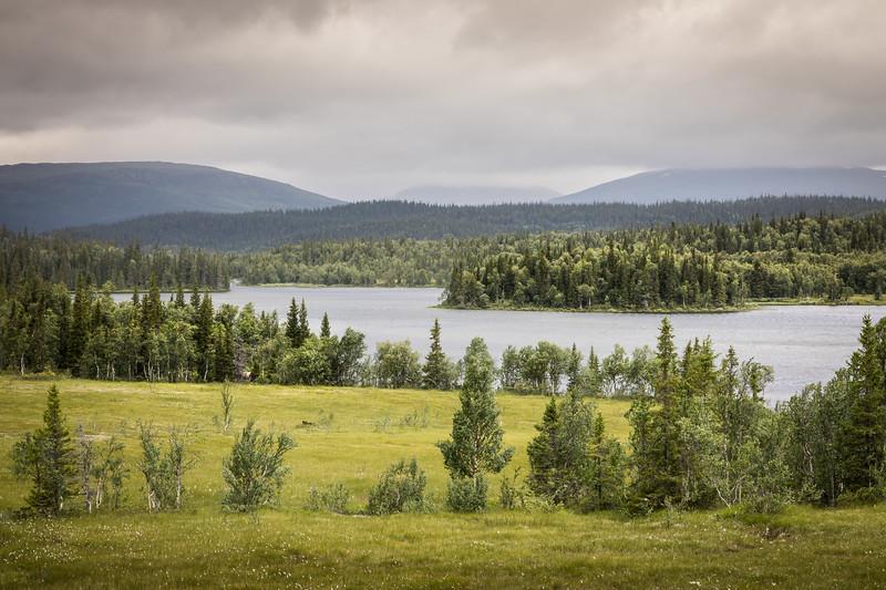 Leipkvattnet lake view