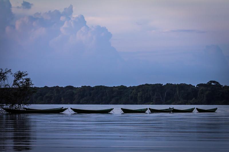 Boats resting at Rio Negro - Amazon