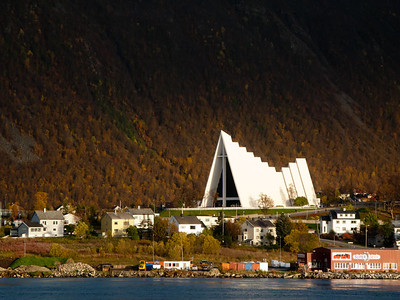 Tromsdalen church aka Ishavskatedralen (arctic cathedral) in Tromsø
