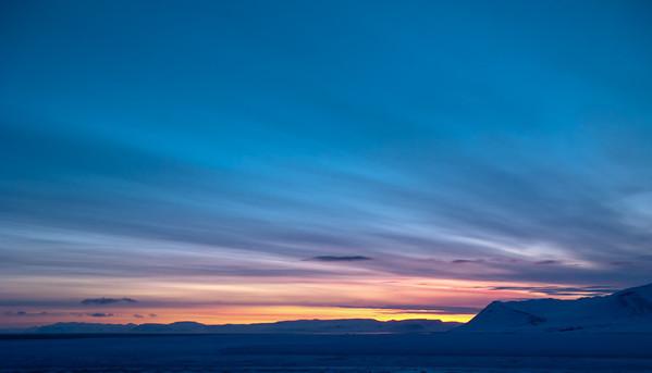 Dawn over Isfjorden, Svalbard