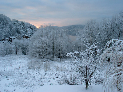 Winter in Hyggen, outside Drammen