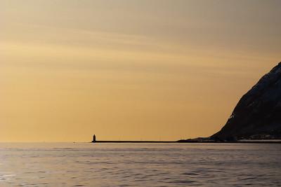 Høgstein light at the island Godøya, outside Ålesund