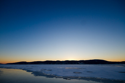 November is unusually cold this year, and the Drammens fjord is already covered with ice(!)