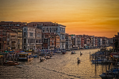 Evening in Venice Italy