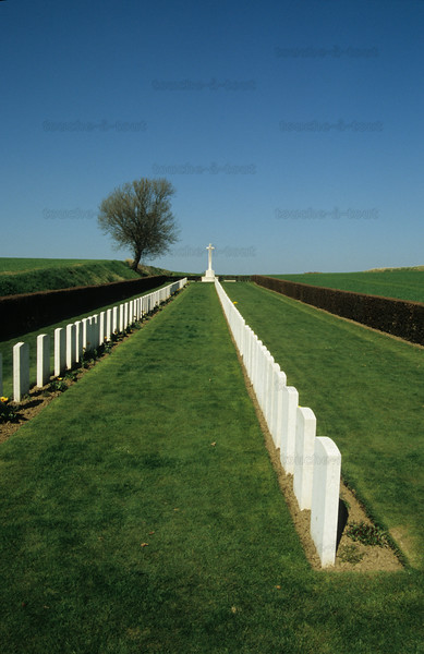 First World War battlefield, France