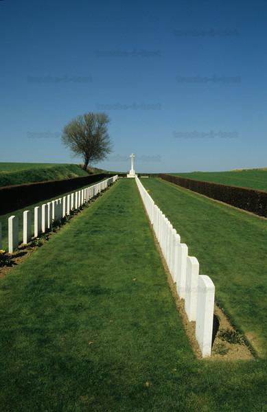 First World War battlefield, France