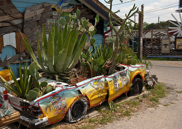 Planet K Uses Cars As Planters