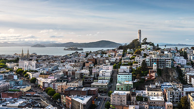 Coit Tower, San Francisco. #CoitTower, #SanFrancisco, #CityScapes, #Alcatraz, SanFrancisco Bay, #NorthBeach