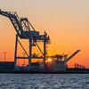 Oakland Port Cranes at Sunrise