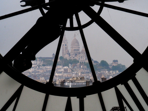 Sacre-Coeur in Montmartre, seen from Musee d'Orsay