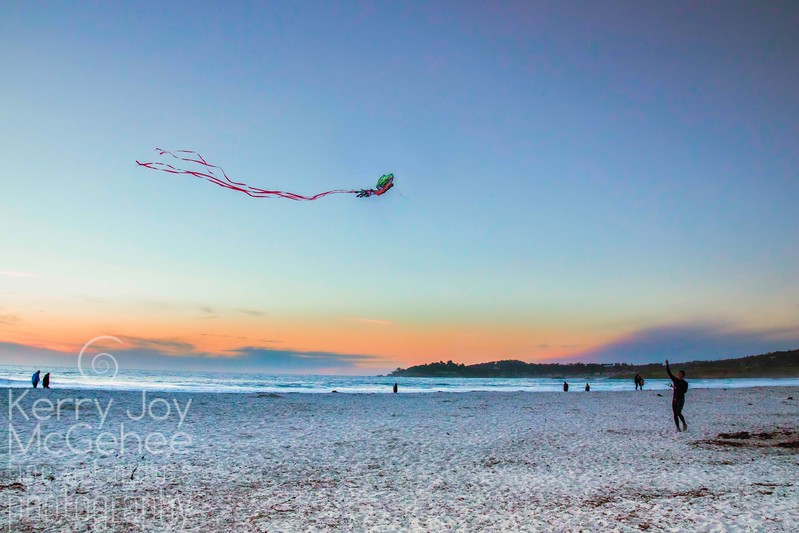 Kite on Carmel Beach