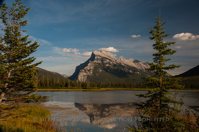Mount Rundle View from Vermilion Lakes; Banff - Canada