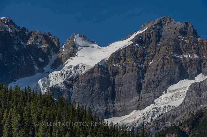 Glacier at Mt Cephran, Banff National Park