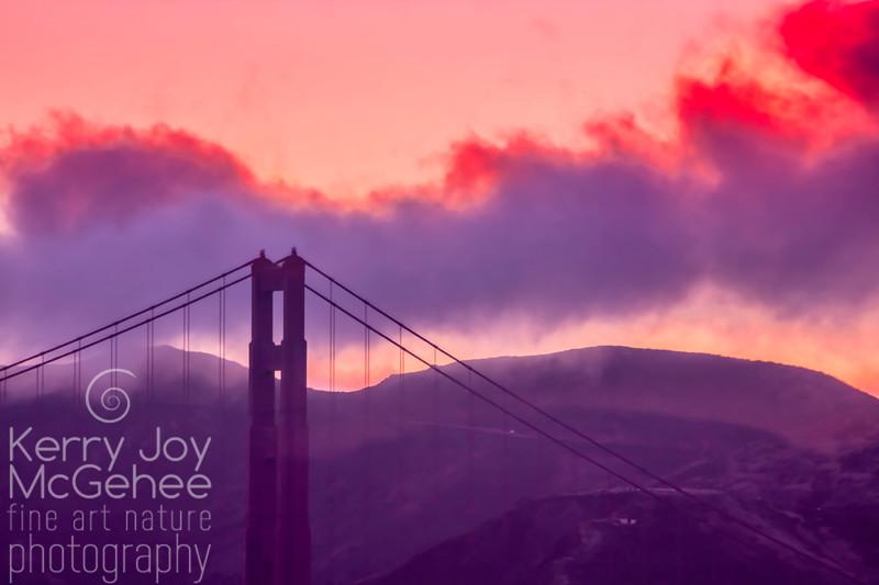 Golden Gate Sunset Silhouette